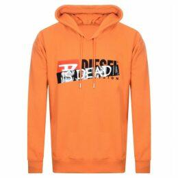 Diesel Haute Couture Logo Hoodie Orange