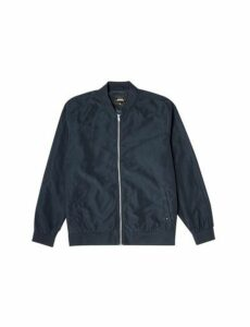 Mens Big & Tall Navy Nylon Bomber Jacket, blue