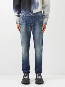Allude - Drawstring Wool Blend Track Pants - Mens - Charcoal