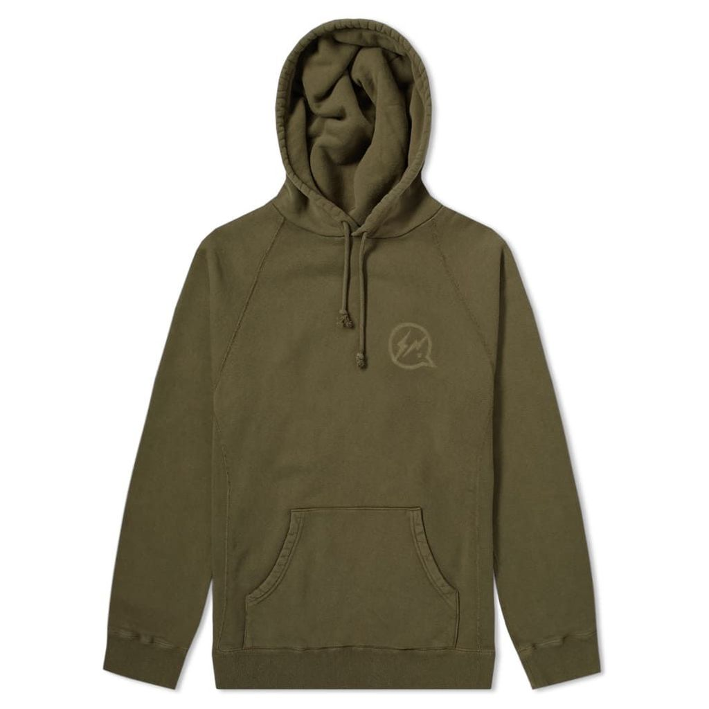 Denim by Vanquish & Fragment Icon Print Hoody Olive