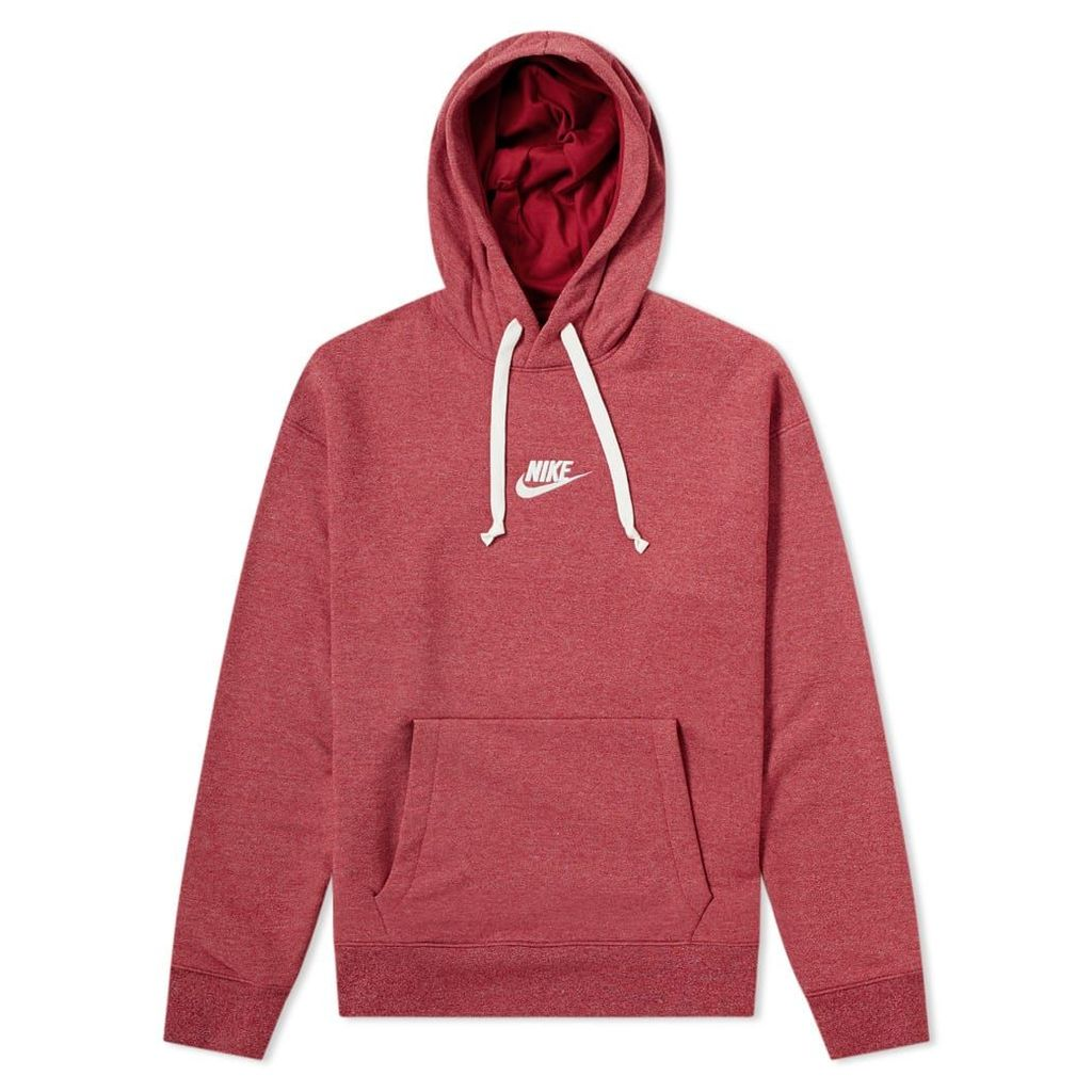 Nike Heritage Pullover Hoody Red Crush Heather & Sail