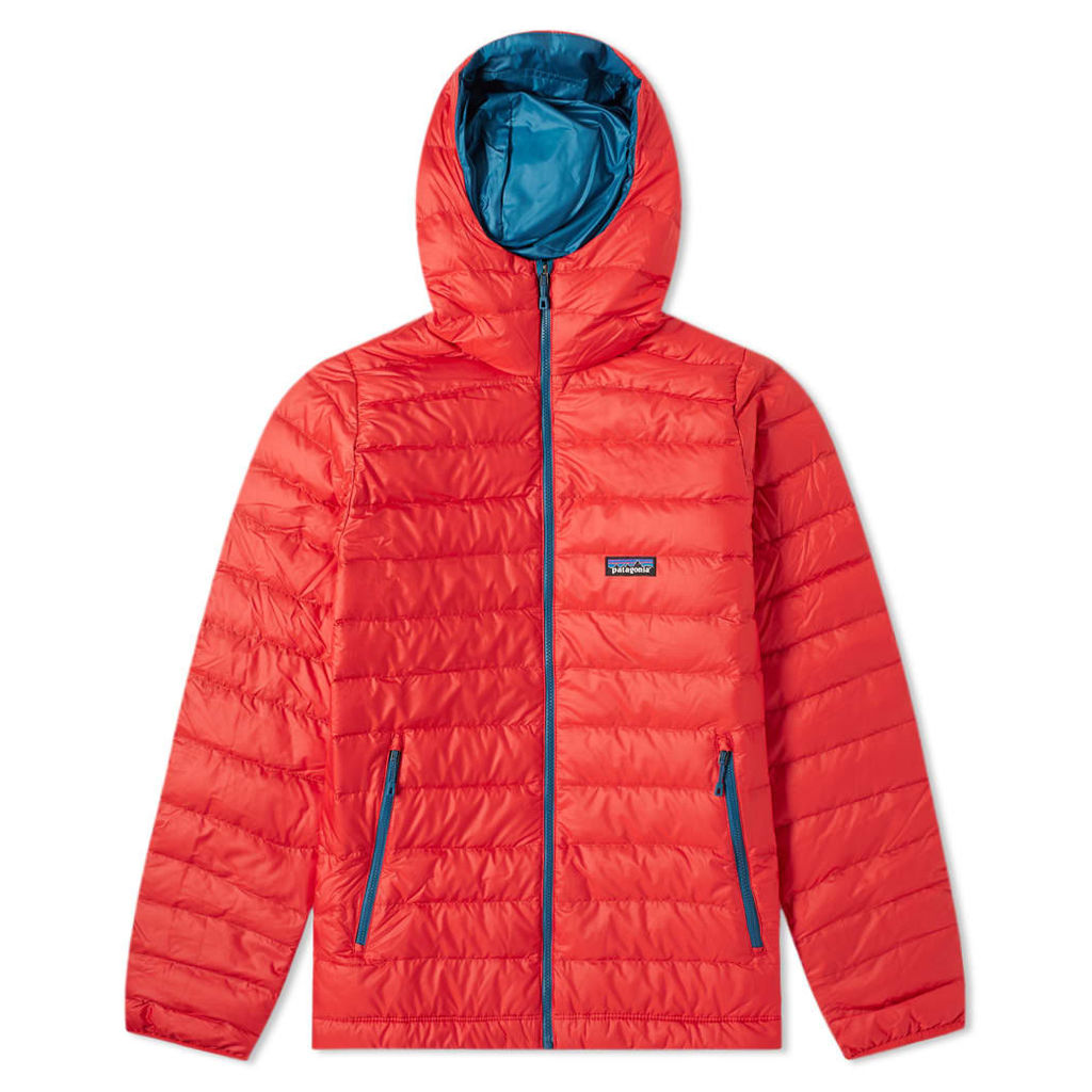 Patagonia Down Sweater Hoody Fire Red