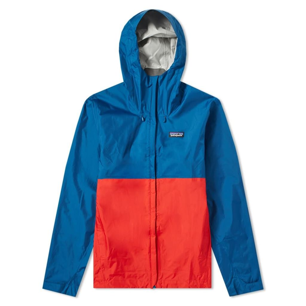 Patagonia Torrentshell Jacket Big Sur Blue & Fire Red