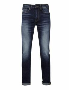 Mens Mid Blue Tyler Skinny Fit Jeans, Blue