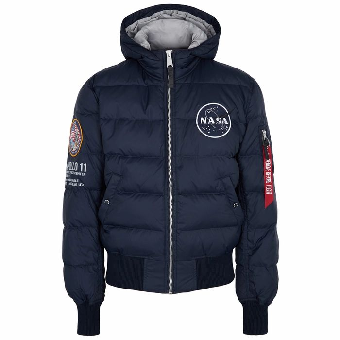 Alpha Industries Apollo 11 Navy Quilted Shell Jacket