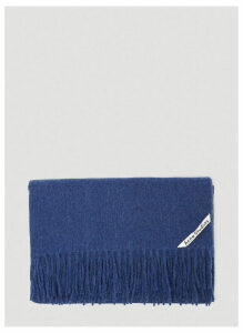 Acne Studios Canada Fringed Scarf in Navy size One Size