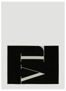 Valentino VLTN Contrast Scarf in Black size One Size