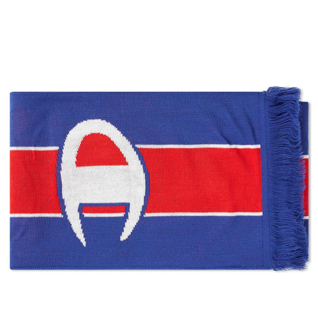 Champion Reverse Weave Logo Football Scarf Royal Blue & Red