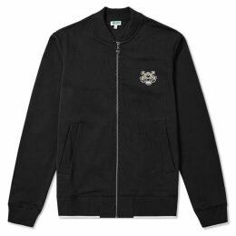 Kenzo Tiger Logo Zip Bomber Jacket Black