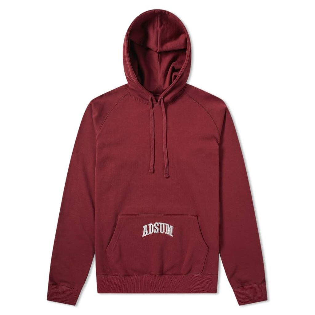 Adsum Washed Collegiate Popover Hoody Maroon