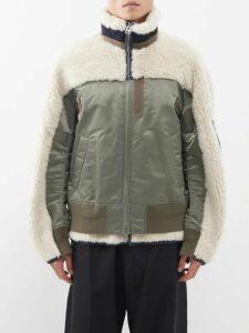 Prada - Contrast Panel Wool Sweater - Mens - Grey Multi