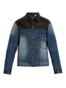 7 Moncler Fragment - Denim Down Filled Jacket - Mens - Blue