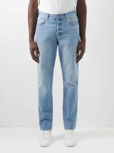 Balenciaga - Logo Embroidered Half Zip Cotton Jersey Sweatshirt - Mens - Grey