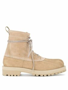 UNDERCOVER military boots - Brown