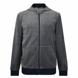 Emporio Armani Chenille Zip Hooded Sweatshirt