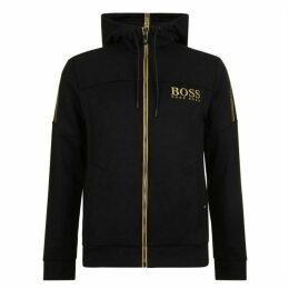 Boss Logo Zip Hooded Sweatshirt