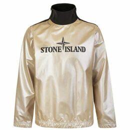 Stone Island Iridescent Logo Print Shell Sweatshirt