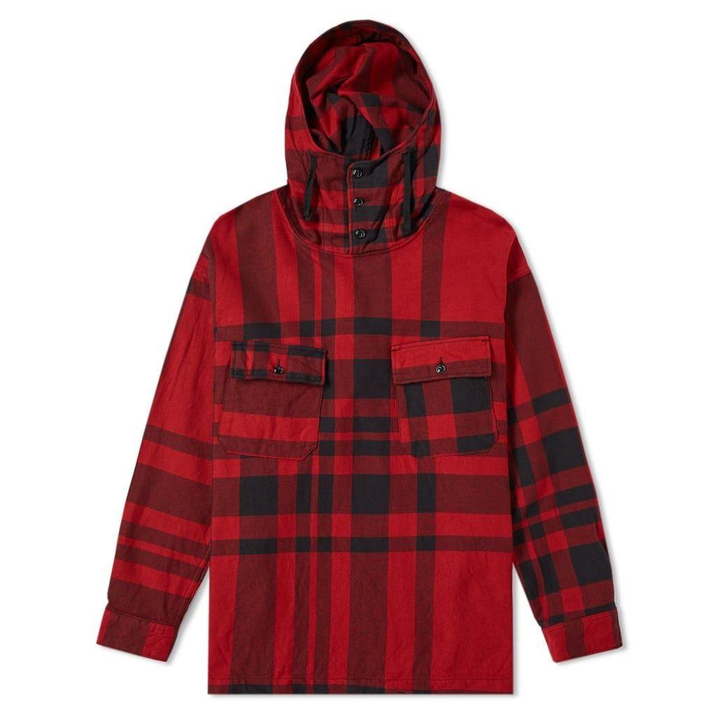 Engineered Garments Cagoule Shirt Jacket Red & Black Big Plaid