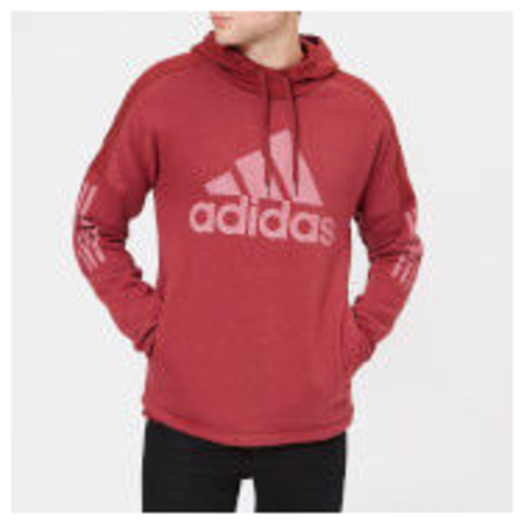 adidas Men's Side Logo Pull Over Hoody - Noble Maroon