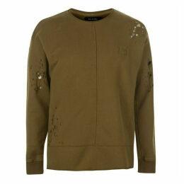 Religion Patch Crew Sweater