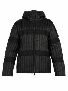 5 Moncler Craig Green - Halibut Logo Epaulette Hooded Jacket - Mens - Black
