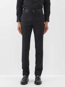 7 Moncler Fragment - Logo Appliqué Cotton Hooded Sweatshirt - Mens - Black