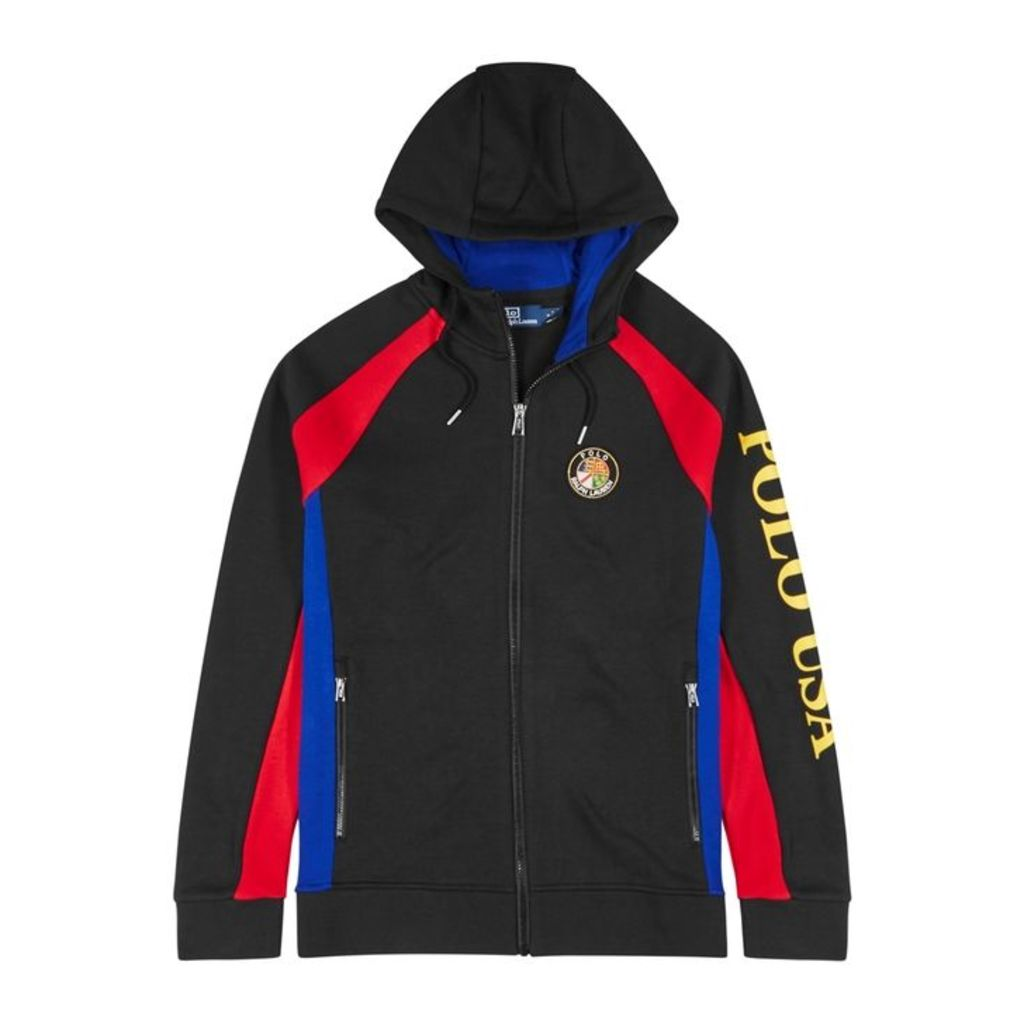 Polo Ralph Lauren Black Hooded Jersey Sweatshirt