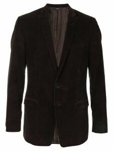 Dolce & Gabbana Pre-Owned single breasted corduroy blazer - Brown