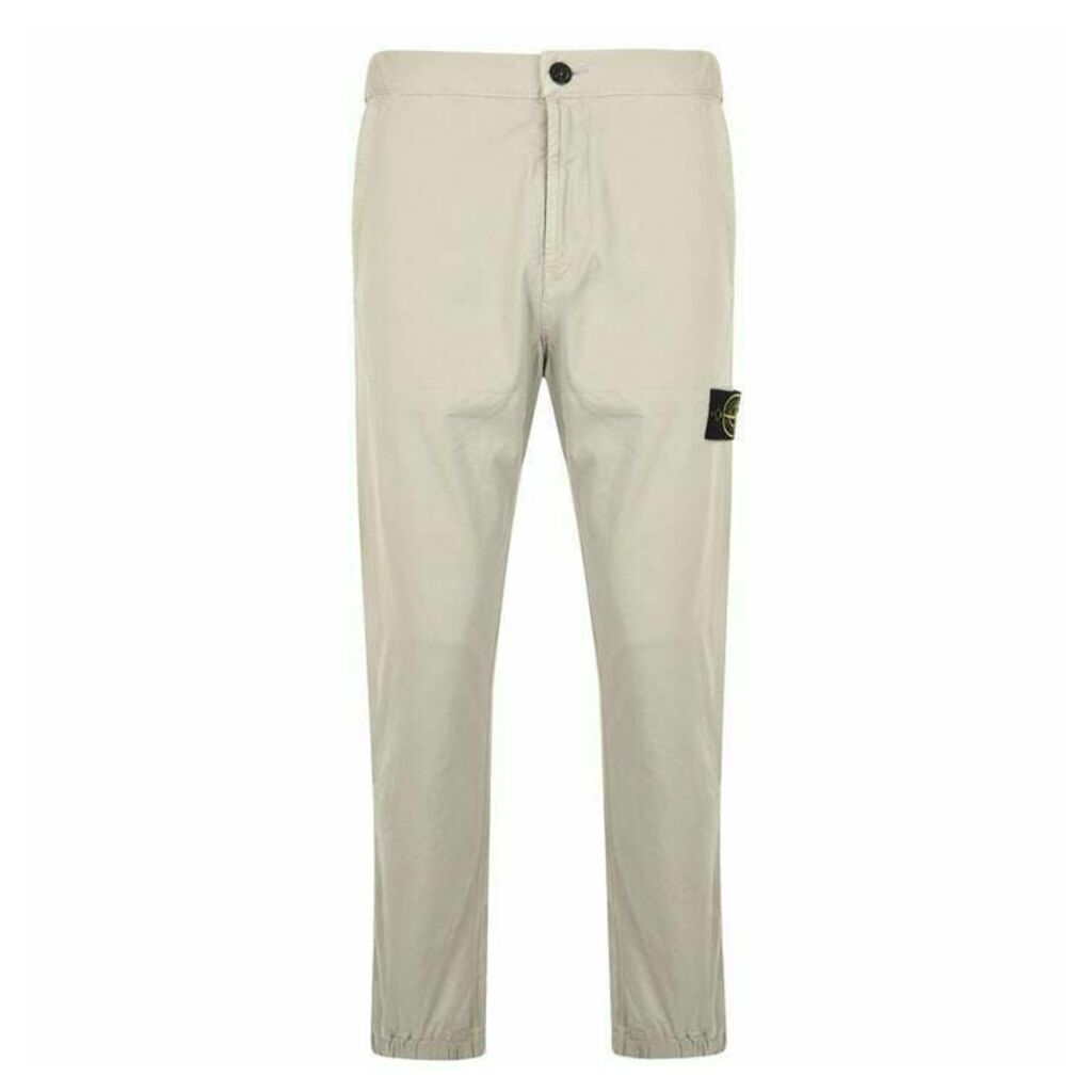 STONE ISLAND Elasticated Cuff Chino Trousers