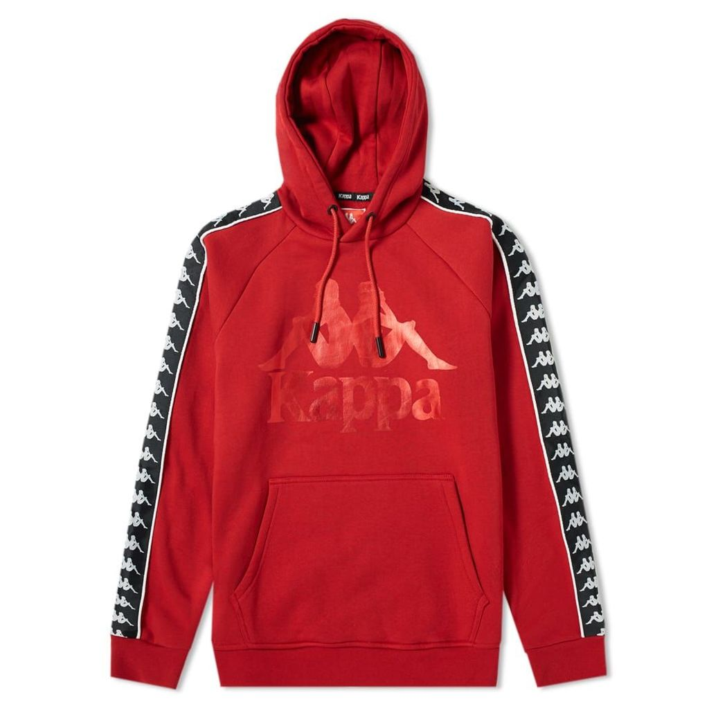 Kappa Authentic Hurtado Logo Hoody Dark Red & Black