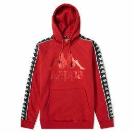 Kappa Authentic Hurtado Logo Hoody Dark Red & Black