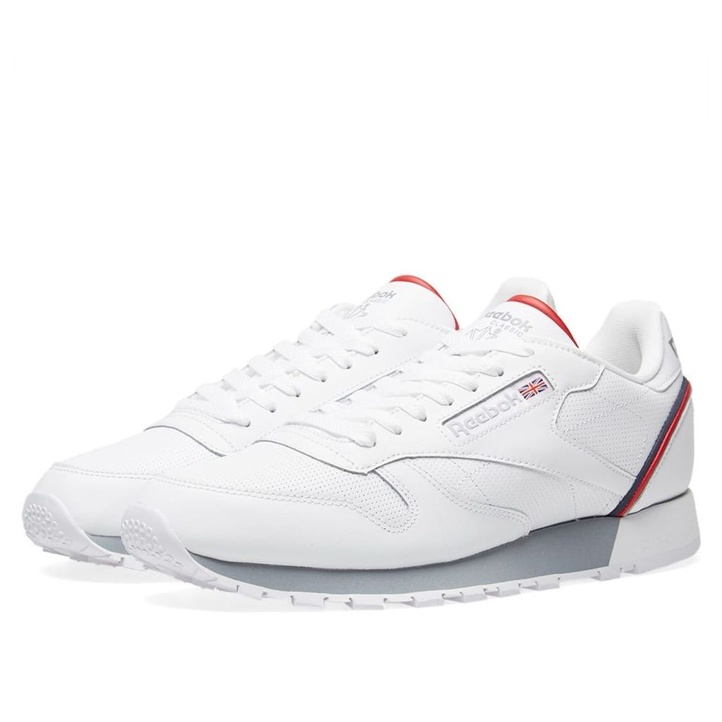 Reebok Classic Leather Split White, Collegiate Navy & Red