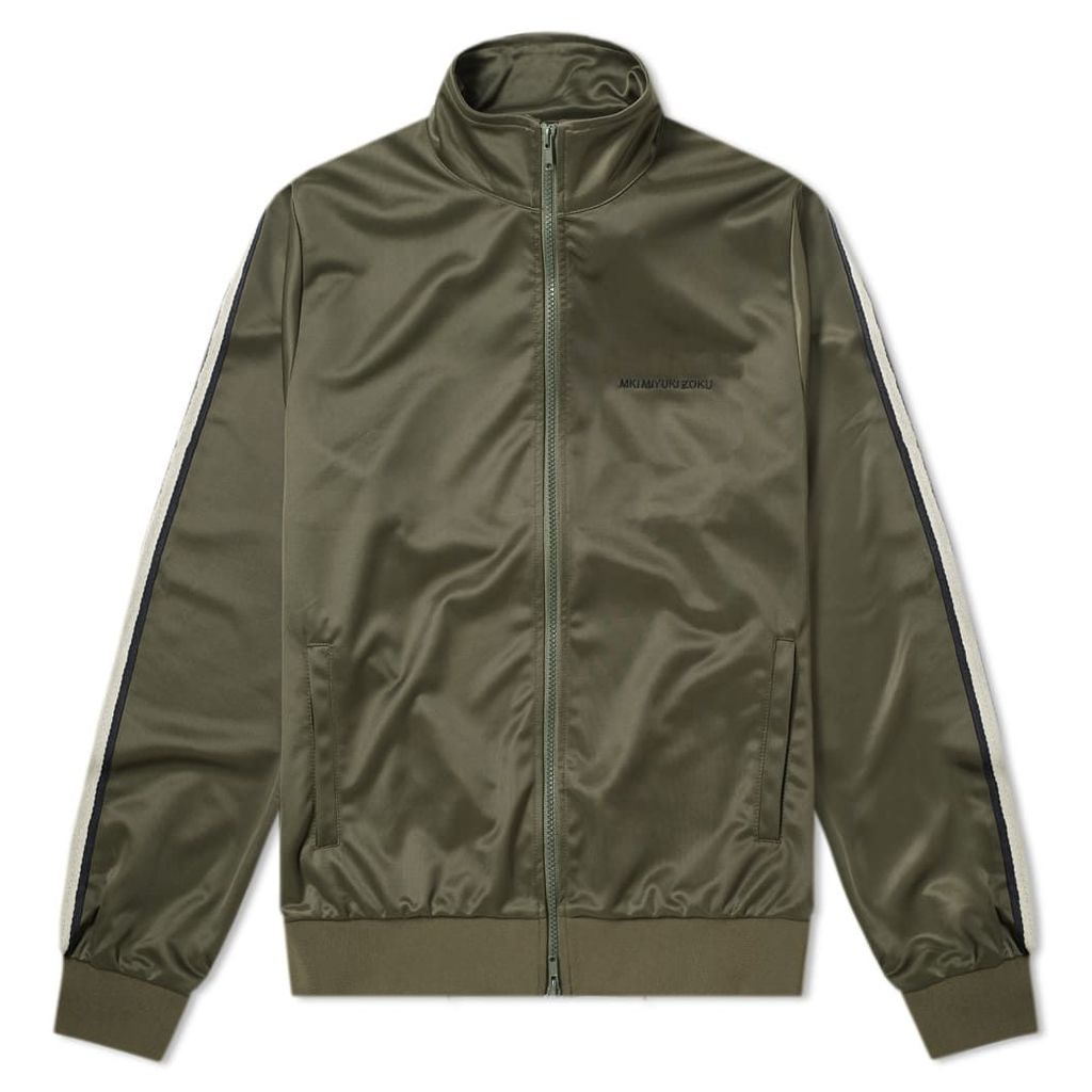 MKI Taped Track Jacket Olive, Navy & Off-White