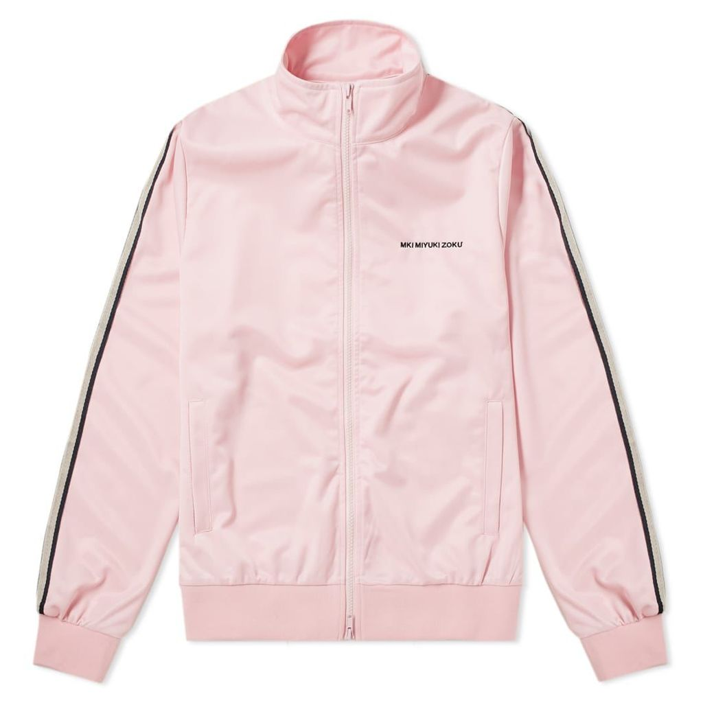 MKI Taped Track Jacket Light Pink, Navy & Off-White