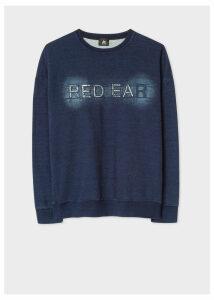 Men's Indigo 'Red Ear' Embroidered Cotton Sweatshirt