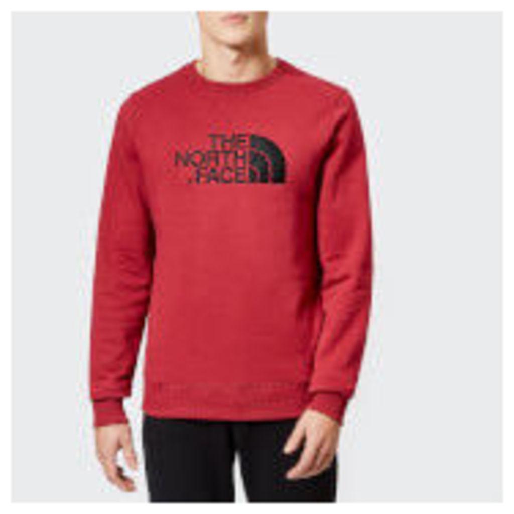 The North Face Men's Drew Peak Crew Neck Sweatshirt - Rumba Red - XL - Red