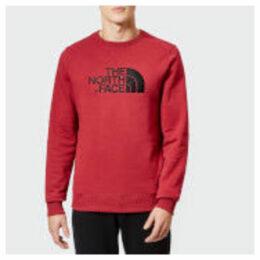The North Face Men's Drew Peak Crew Neck Sweatshirt - Rumba Red