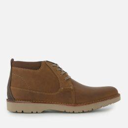 Clarks Men's Vargo Mid Leather Chukka Boots - Dark Tan - UK 9