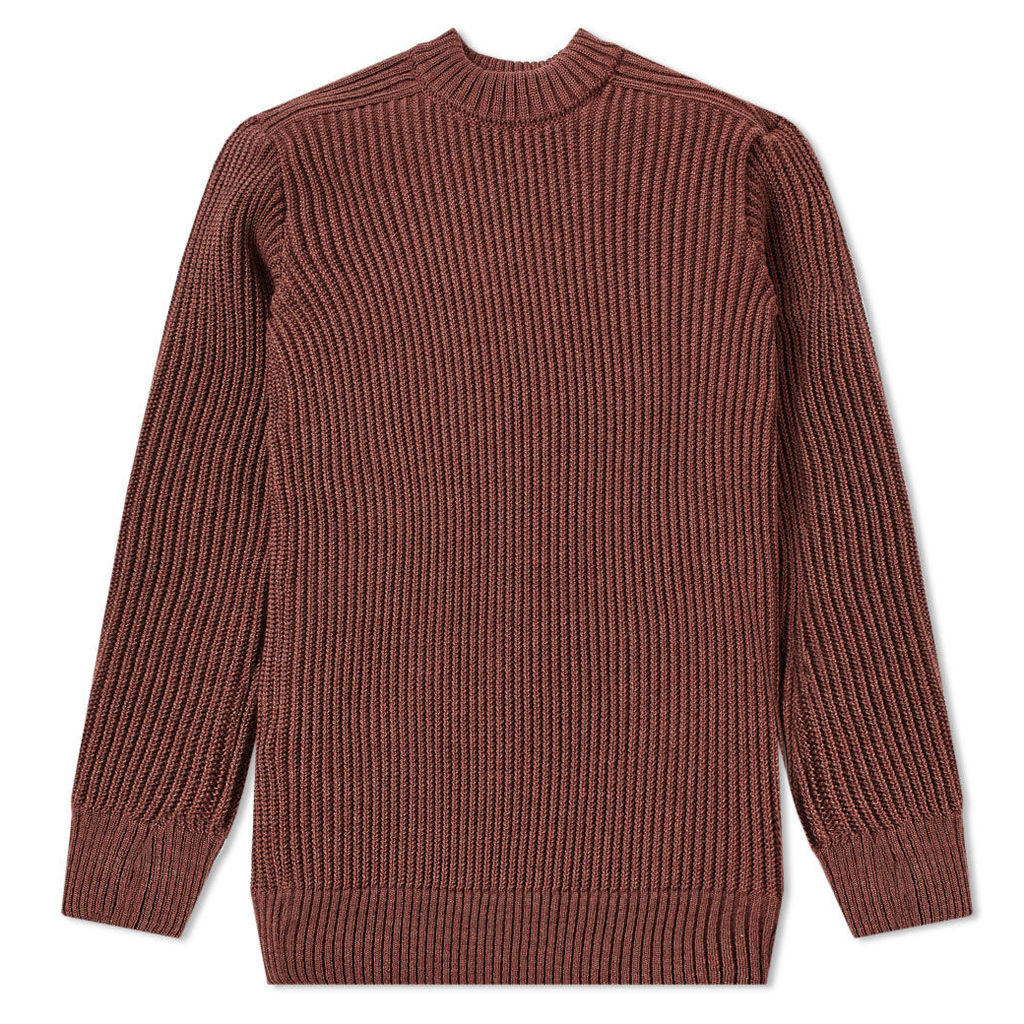 S.N.S. Herning Fang Rib Crew Knit Blended Pink