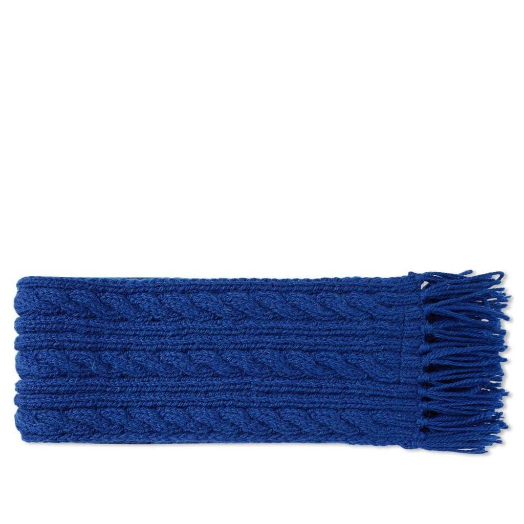 Inverallan Aran Scarf Inky Blue