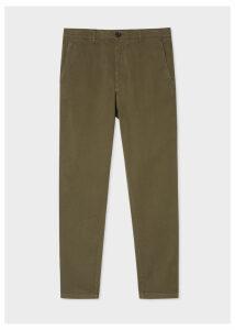 Men's Mid-Fit Khaki Stretch-Cotton Chinos