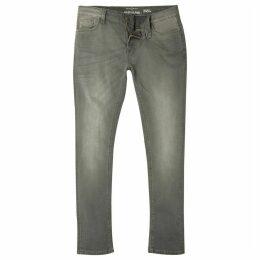 Mens River Island Grey wash Sid skinny jeans
