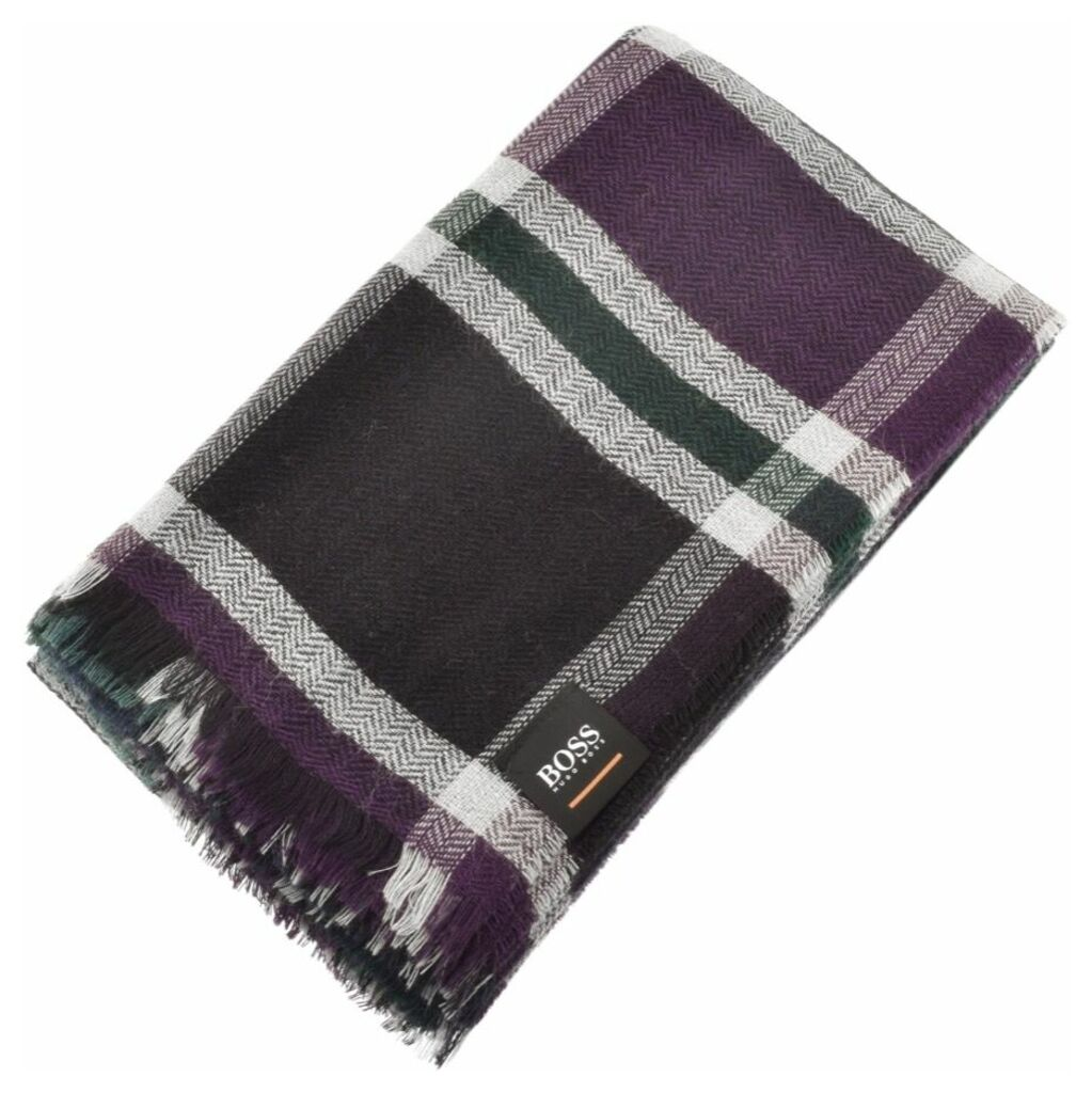 BOSS Casual Nein Checked Scarf Blue