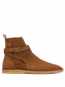 Saint Laurent Wyatt Jodhpur flat boots - Brown
