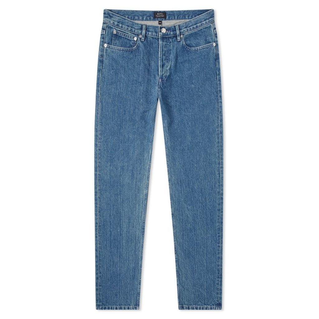 A.P.C. Petit Standard Jean One Wash Indigo