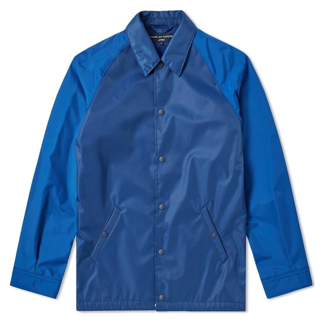 Comme des Garcons Homme Back Logo Coach Jacket Blue