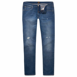 Mens River Island Lee Blue slim fit ripped tapered Luke jeans