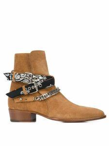 Amiri ankle chain straps boots - Neutrals