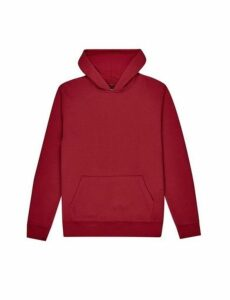 Mens Red Overhead Hoodie, RED