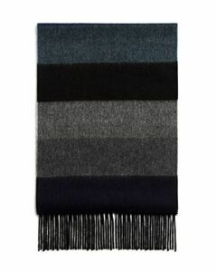 The Men's Store at Bloomingdale's Block-Stripe Cashmere Scarf - 100% Exclusive